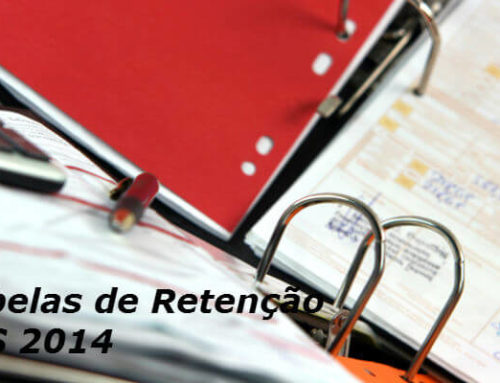 Tabelas de retenção na fonte IRS para 2014