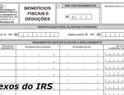 Todos os Anexos do IRS