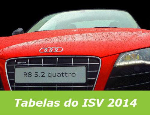 Tabelas do Imposto Sobre Veículos ISV 2014