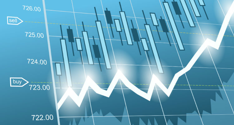 Gráfico 3d ações bolsa