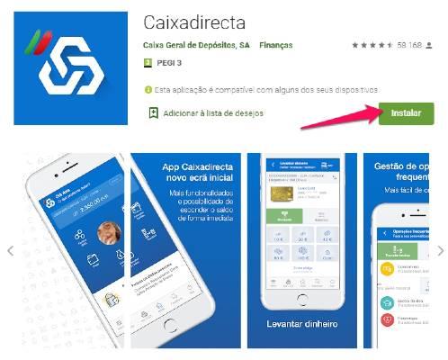 CGD homebanking na app caixadireta