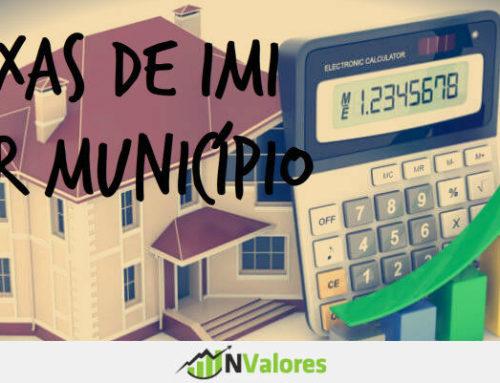 Taxas de IMI para 2016 por distrito e município