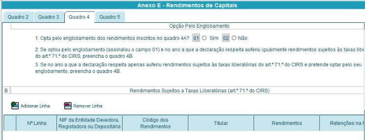 Anexo E - Quadro 4B