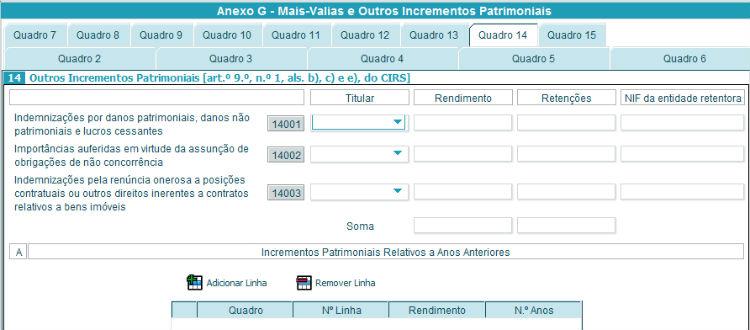 Anexo G - Quadro 14