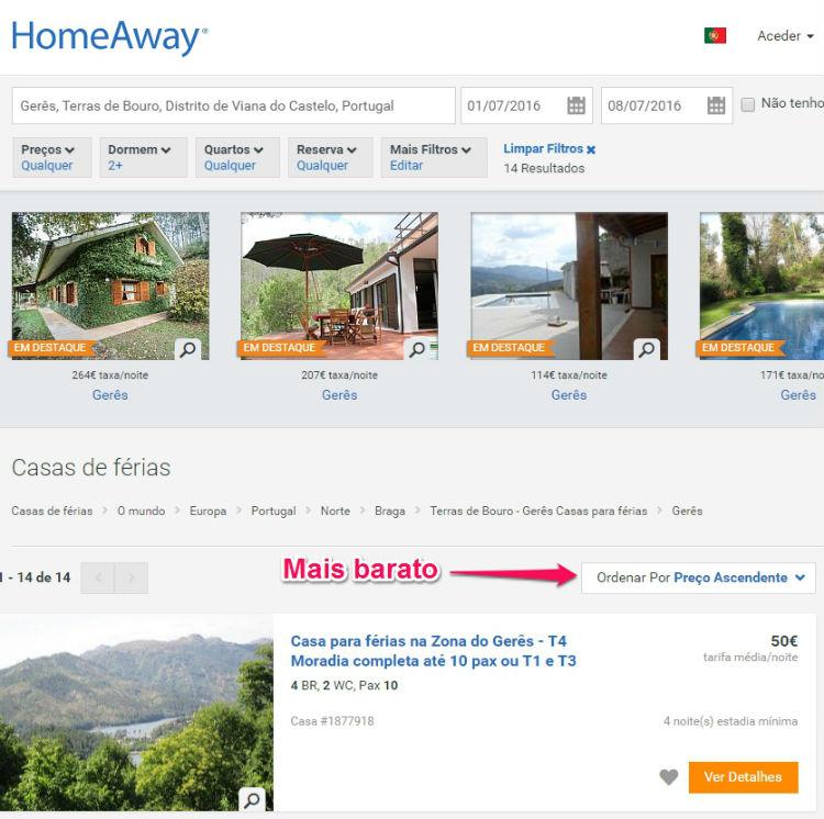 homeaway mais barato