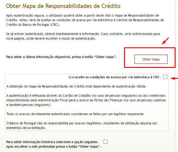 Obter Mapa de Responsabilidades de Crédito