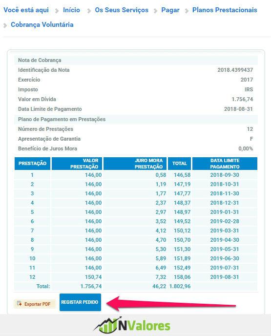 Pagar o IRS em prestações