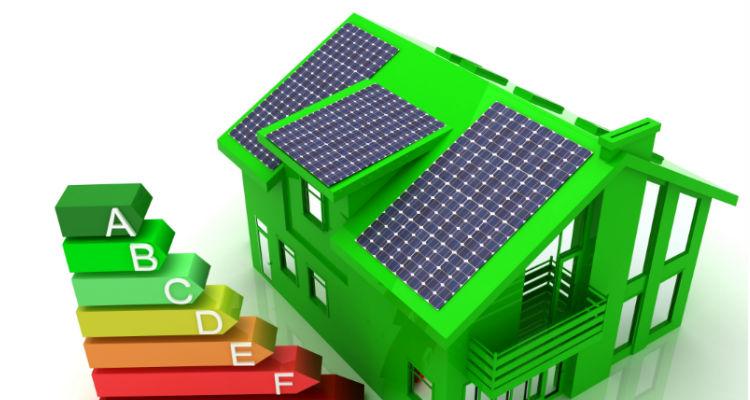 eficácia energética de um imóvel de A+ a F