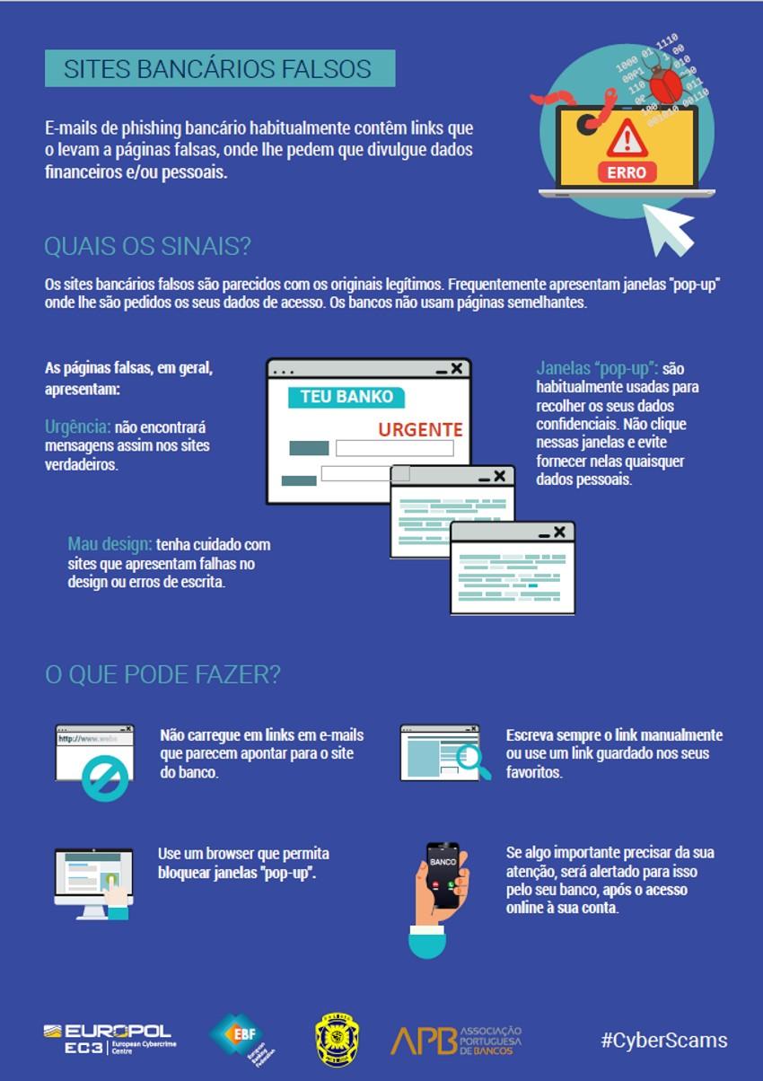 sites bancários falsos