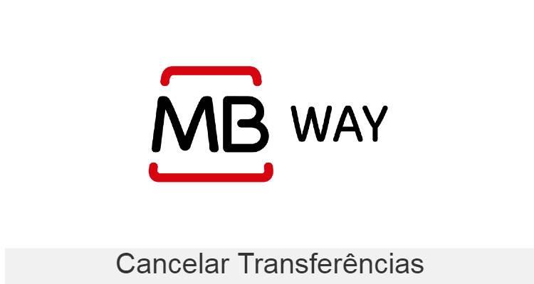 cancelar transferência MBWay